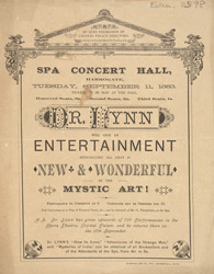 Advert for the Spa Concert Hall in Harrogate